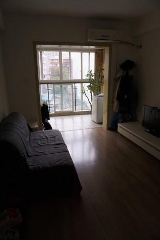 Blick von Haustür aufs Wohnzimmer