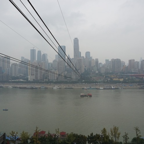 Blick auf Skyline von Chongqing